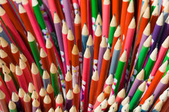 Decorated school pencils Royalty Free Stock Photography