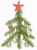 Decorated with shells Stock Images