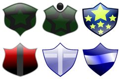 Decorated shields Stock Photography