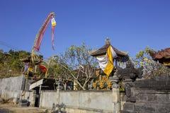 Decorated shrine, the biggest Hindu festival Galungan, Nusa Penida in Indonesia Stock Photos