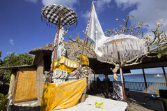 Decorated shrine, the biggest Hindu festival Galungan, Nusa Penida in Indonesia Royalty Free Stock Photography