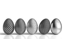 Steel easter eggs Stock Images
