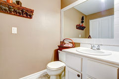 Decorated simple bathroom Stock Images