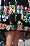 Decorated skirt folk costume Stock Photo