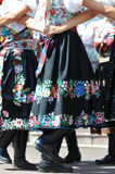 Decorated skirt folk costume, Royalty Free Stock Photography