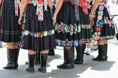 Decorated skirt folk costume, Stock Image