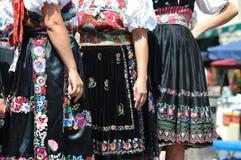 Decorated skirt folk costume,. Slovakia Stock Photos