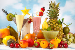 Decorated smoothies Stock Image