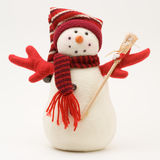 Decorated snowman. On a white background stock image