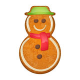 Decorated snowman. Gingerbread cookie. Royalty Free Stock Image