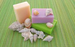 Decorated soap Stock Images