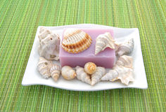 Decorated soap Stock Photo