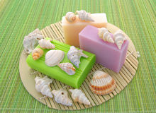 Decorated soap Royalty Free Stock Images