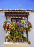 Decorated Spanish Window. Stock Photo