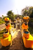 Decorated with a statue of the guardian of the temple,Nusa Penida, Indonesia Royalty Free Stock Photography