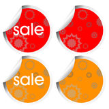 Decorated stickers Royalty Free Stock Images