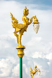 Decorated street lamp Royalty Free Stock Image