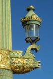 Decorated street light in Europe, Paris, France Stock Photos