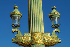 Decorated street light in Europe, Paris, France Royalty Free Stock Image