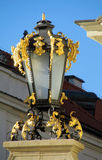 Decorated street light in Europe Stock Photography