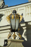 Decorated street light in Europe Royalty Free Stock Images