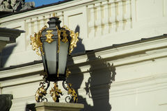Decorated street light Stock Images