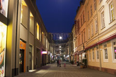 Decorated street in Wiesbaden in Germany Royalty Free Stock Photography