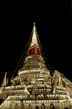 Decorated stupa in Thailand Royalty Free Stock Photos