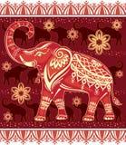 Decorated stylized elephant Stock Photography