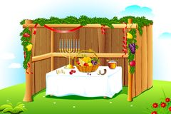 Decorated Sukkah Stock Photography