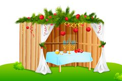 Decorated Sukkah Stock Photos
