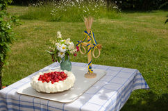 Decorated summer table Royalty Free Stock Image