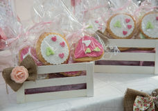 Decorated Sweet Cookies. Stock Photos