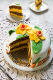Decorated layer cake Royalty Free Stock Photos