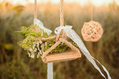Decorated Swing stock photos