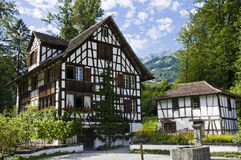 Decorated swiss house. Typical decorated swiss house in german style Royalty Free Stock Images