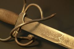 Decorated sword detail Stock Photo
