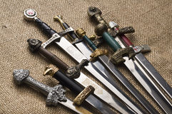 Free Decorated Swords Royalty Free Stock Photo - 37548885