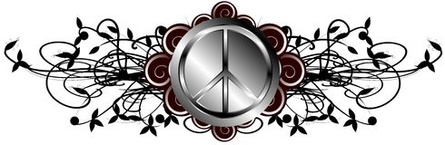 Decorated symbol of peace Royalty Free Stock Photography