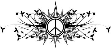 Decorated symbol of peace isolated Stock Images