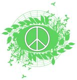 Decorated symbol of peace isolated Royalty Free Stock Photo