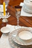 Decorated table Royalty Free Stock Image