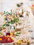 Decorated table Royalty Free Stock Photo