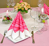 Decorated table Royalty Free Stock Photos