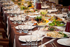 Decorated table Royalty Free Stock Images