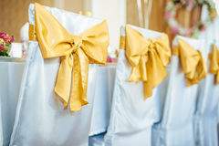 Decorated table set for wedding or another catered Royalty Free Stock Photo