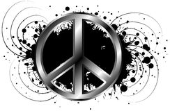 Decorated symbol of peace isolated Stock Photos