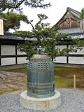 Decorated Temple Bell at Nijo Castle, Kyoto, Japan Stock Images