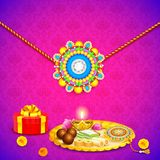Decorated thali with rakhi for Raksha Bandhan Royalty Free Stock Photos