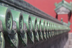 Decorated tile-work in the Temple of Heaven in Beijing Royalty Free Stock Photo